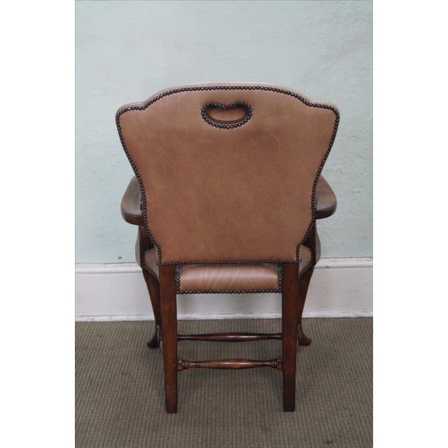 Lillian August 18th Century Leather Arm Chair - Image 4 of 10