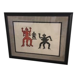 Alexander Calder Mid-Century Dancing Lithograph
