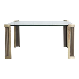 Peter Ghyczy T14 Glass and Brass Coffee Table
