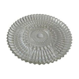 Pressed Glass Divided Serving Platter
