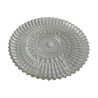 Pressed Glass Divided Serving Platter