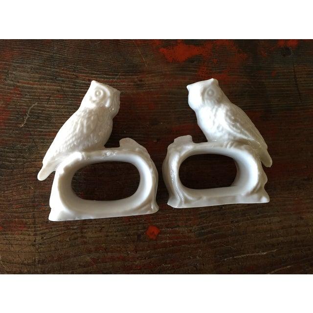 Bone China Owl Napkin Rings - Set of 4 - Image 3 of 5