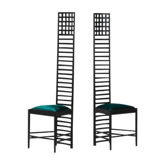 Charles R. Mackintosh Cassina Ladder Back Chairs - A Pair