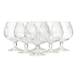 1960s Thistle Brandy Snifters, Set of 6