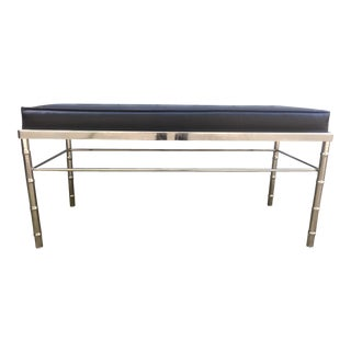 George Koch Sons Chrome Faux Bamboo Bench