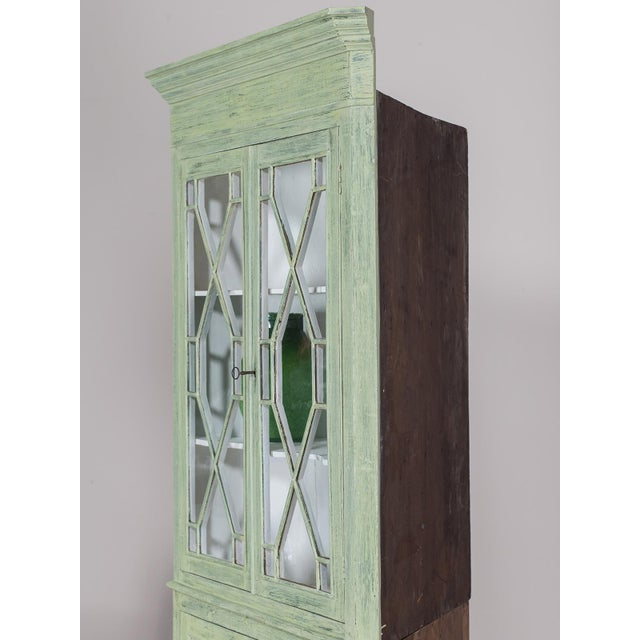 Antique English Painted Georgian Corner Cabinet circa 1840 - Image 10 of 11