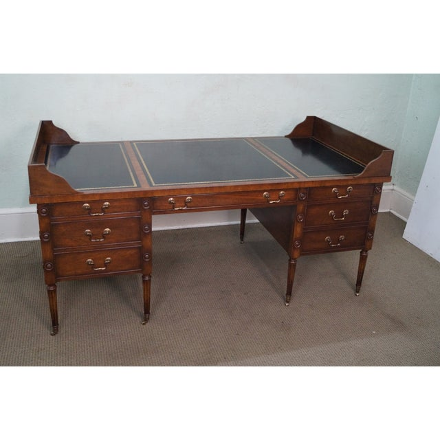 Custom Mahogany Leather Top George Washington Desk - Image 4 of 10