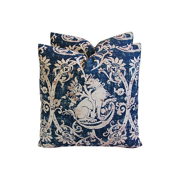 Custom French Mythological Medieval Pillows - Pair - Image 3 of 7