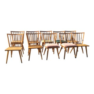Russell Wright Wooden Dining Chairs for Conant Ball - Set of 10