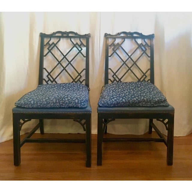 Chinese Chippendale Upholstered Chairs - Set of 4 - Image 3 of 10