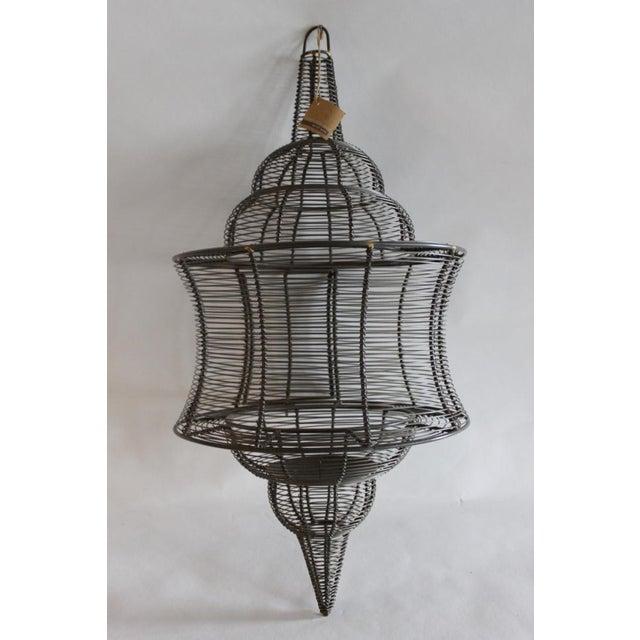 West Elm Pendant Candle Lantern - Image 2 of 8