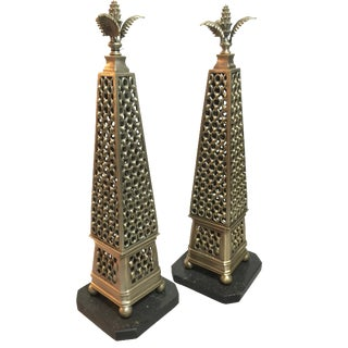 John Richard Metal Obelisks - A Pair