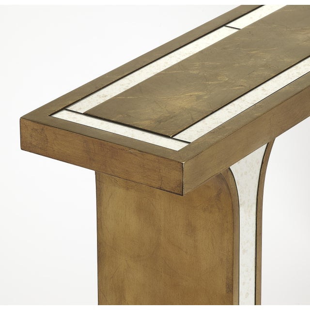 Butler Specialty Katya Silver Leaf Console Table - Image 2 of 3