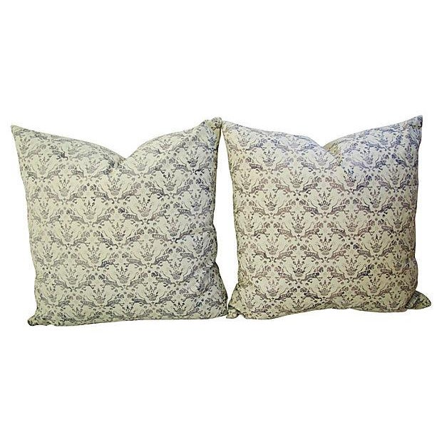 Custom Brunschwig & Fils Imperial Pillows - A Pair - Image 7 of 7