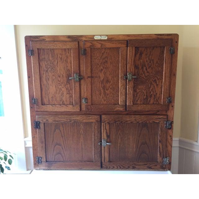 Image of Hoosier Kitchen Cabinet