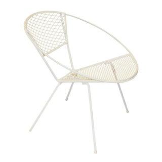 Mid-Century Modern Metal Mesh Hoop Chair