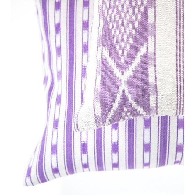 Lilac Purple Ikat Guatemalan Pillow - Image 3 of 7