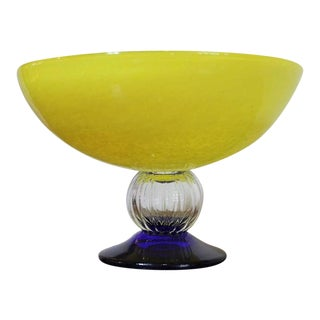 Yellow Bowl by Gunnel Sahlin for Kosta Boda