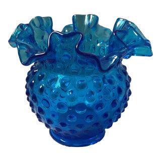 Fenton Glass Hobnail Vase