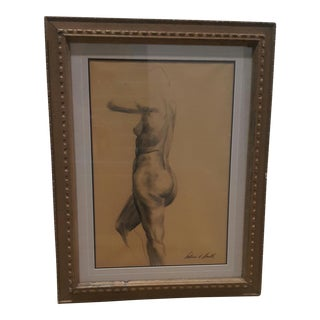 William A. Smith Nude Side Profile Drawing