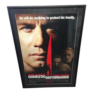 Signed John Travolta Domestic Disturbance Movie Poster