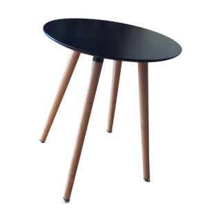Black Veneer Top Mod Bistro Table