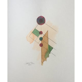 Abstract Watercolor Totem Series Painting
