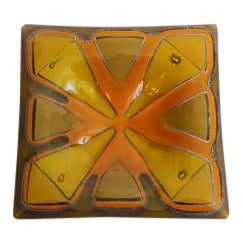 Vintage Mid Century Higgins Art Glass Ashtray