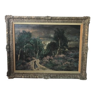 Antique Signed J R Kennedy Oil on Board Painting
