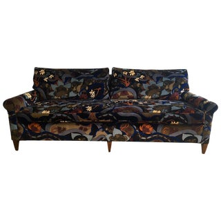 Mid-Century 1970s Jack Lenor Larsen Velvet Sofa
