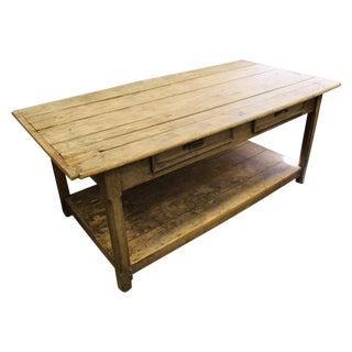 19th C. Antique Fabric Table