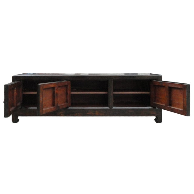 Chinese Vintage Low Graphic Tv Console Cabinet - Image 5 of 6