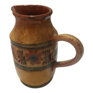 Glazed Hand Painted Ceramic Jug