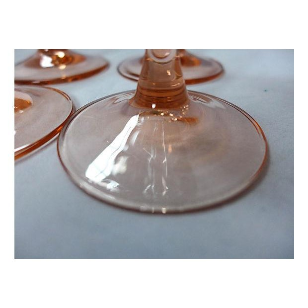 Pink Stem Champagne Glasses - Set of 4 - Image 6 of 7