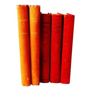 Antique Classic Books - Set of 5