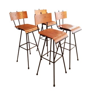 Custom-Made French Mid-Century Stools