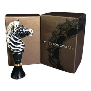 Jay Strongwater Zebra Wine Bottle Stopper