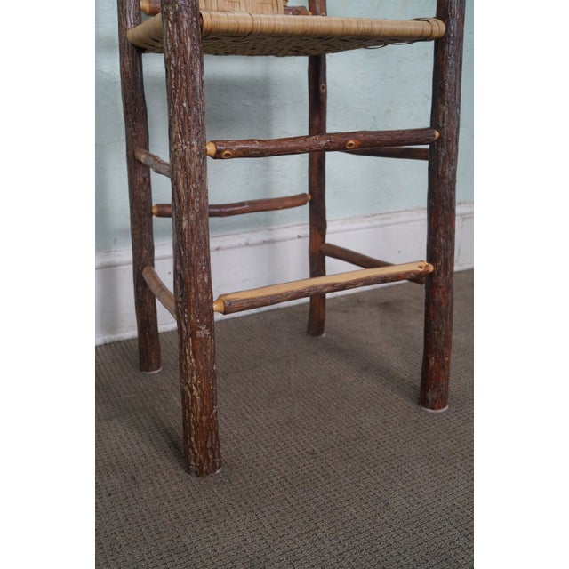Old Hickory Rustic Barstools - Set of 3 - Image 7 of 10