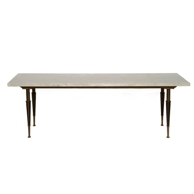 Italian Marble And Brass Coffee Table Chairish