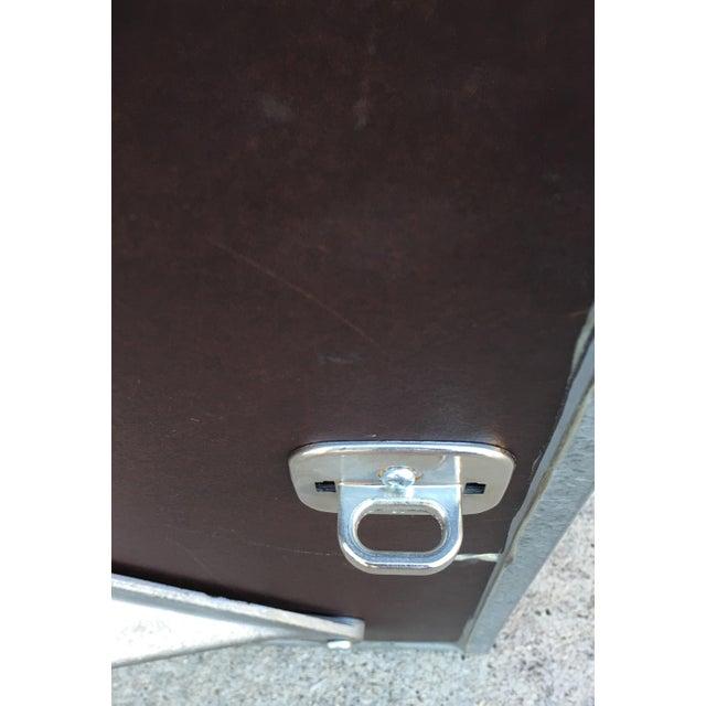 Image of Steel Side Table on Wheels