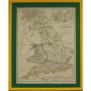 Britannia Map by Edw. Weller