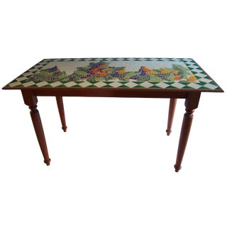 Tuscan Style Custom Vineyard Mosaic Kitchen Table
