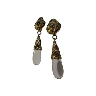 Judith Hendler Runway Lucite Drop Earrings