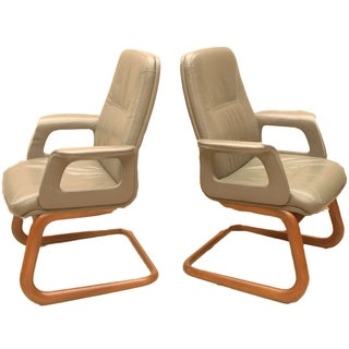 Modern Leather German Chairs - A Pair