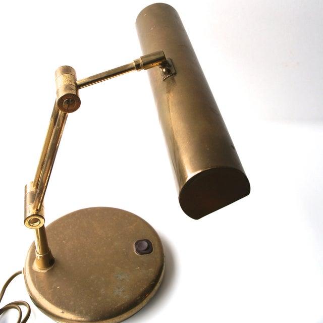 Image of Vintage Brass West German Desk Lamp