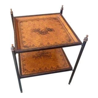 Italian Two-Tiered Tole Side Table