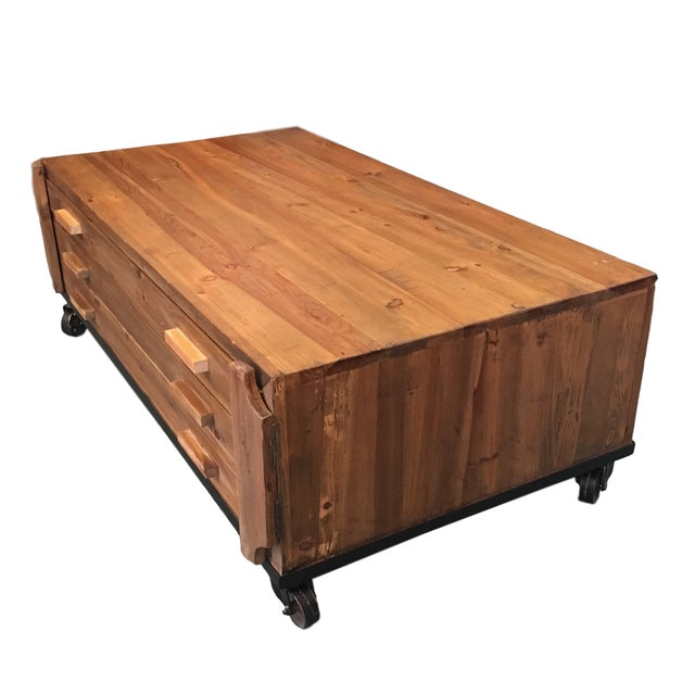Reclaimed Wood Coffee Table - Image 2 of 7