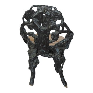 Stylish Antique Black Forest Chair