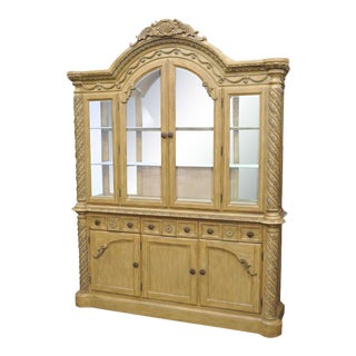 Ashley South Shore Coast Bisque China Cabinet Buffet Breakfront Cupboard