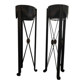 Tole Plant Stands - A Pair